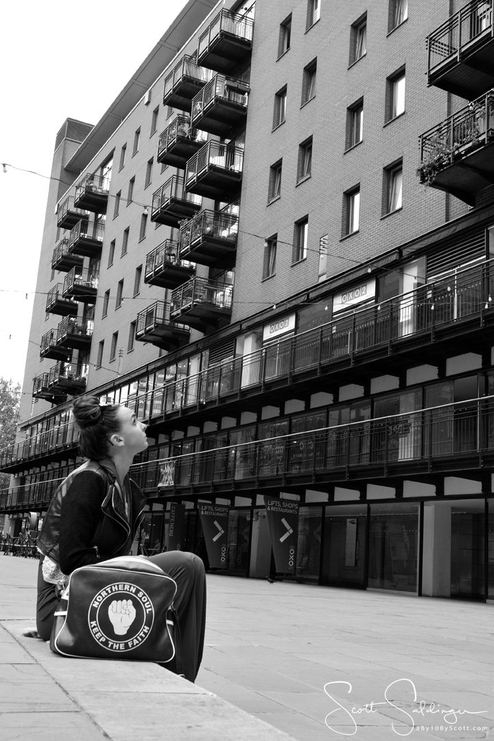 London_looking_Up_BW