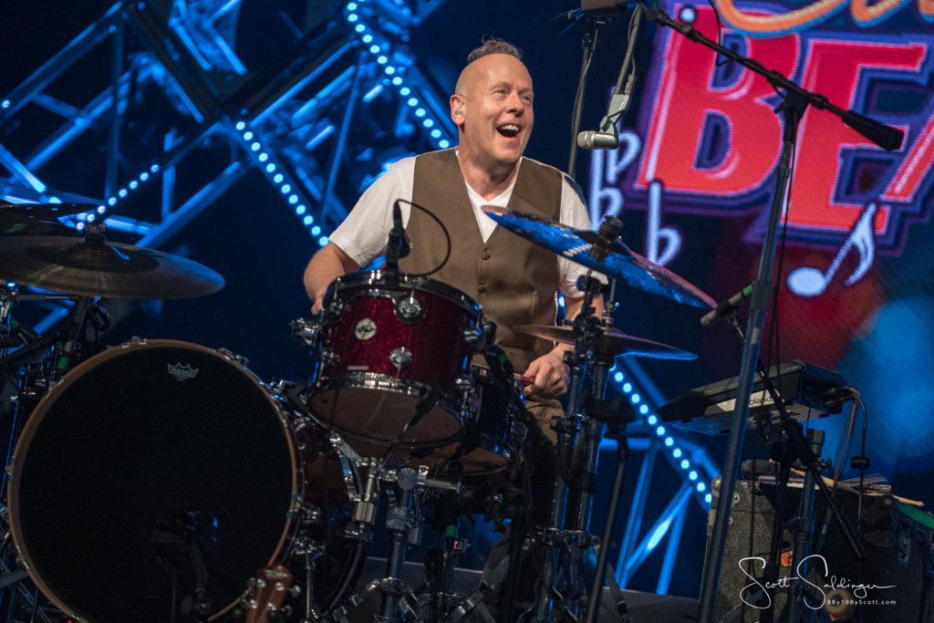 Simon Hanson on drums